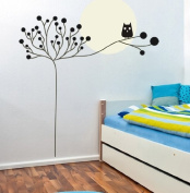 Large Tree Owl Wall Decal for Nursery Baby Girls Boys Kids Room Walls