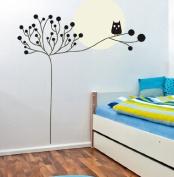 Large Tree Owl Wall Decal for Nursery Baby Girls Boys Kids Room Walls