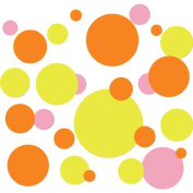 204 Polka Dot Peel & Stick Wall Decals in Three Colours