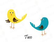 2 Cute Birds Vinyl Wall Decals Girls Boys Nursery Kids Room Removable Stickers