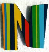 TATIRI Bright Multi-Colour Alphabet WOODEN Letter STRIPES & DOTS