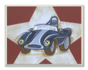 Stupell Industries The Kids Room Car Star Rectangle Wall Plaque