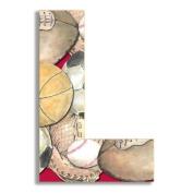 Oversized Hanging Letter L Pattern
