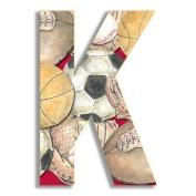Oversized Hanging Letter K Pattern