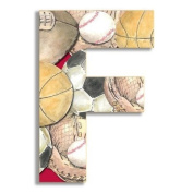 Oversized Hanging Letter F Pattern