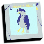 Umbrella Bird - A is For Animals - 41cm x41cm Canvas Baby Wall Art