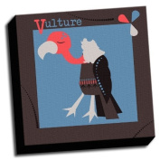 Vulture - A is For Animals - 41cm x41cm Canvas Baby Wall Art