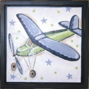 Plane and Stars Wall Art