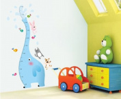 Extra Large Elephant Wall Decal/ Elephant Growth Chart Wall Decal/ Sticker/ Nursery Wall Decal