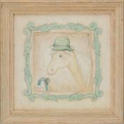 Green Frog Art Vintage Animals On Parade Series Print Framed