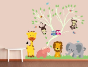 Nursery Tree Animals Decal