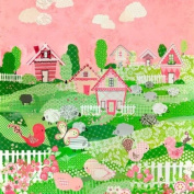 Oopsy daisy, Fine Art for Kids Counting Sheep and Birdies Pink Stretched Canvas Art by Winborg Sisters, 53cm by 53cm