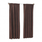 Sweet Dreams Suede Window Panel Brown