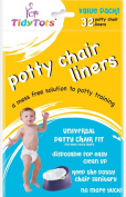 TidyTots Disposable Potty Chair Liners - Value Pack - Fits All Potty Chairs - 32 Liners