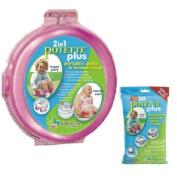 Kalencom 5.1cm 1 Potette Plus Portable Girl's Potty-Toilet Training Seat with 30 Potty Liners Set