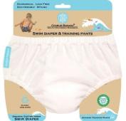 Charlie Banana 889206 Small Swim Nappy and Training Pants - White