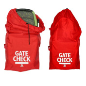 J.L. Childress Gate Cheque Bag For Standard and Double Strollers, Red, 2 Pack