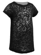 Kavio! Infants Burnout Twisted Crew Neck Short Sleeve T-shirt