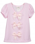 Laura Dare Baby-Girls Pink Bow Top Shirt