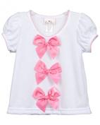 Laura Dare Baby-Girls Bright-Pink Bow Top Shirt