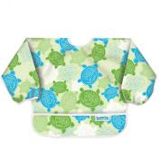 Bumkins Waterproof Sleeved Bib, Green Turtle