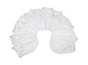 6 Pairs White Cotton Newborn Baby/infant No Scratch Mittens Gloves 0-6 Months.