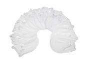 6 Pairs White Cotton Newborn Baby/infant No Scratch Mittens Gloves 0-6 Months.
