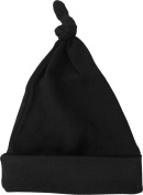 Black Knotted Baby Beanie Hat by Baby Milano.