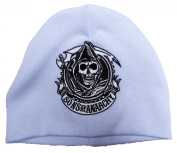 Sons of Anarchy Embroidered Reaper Cogwheel Baby Beanie - Powder Blue