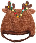 San Diego Hat Company Chenille Reindeer Antleir Hat, Brown