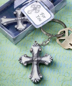 Cross design keychain favours