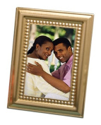 Beaded Design Gold Metal Place Card-Photo Frames