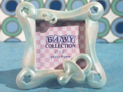 Little blue pacifier photo frame