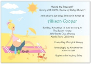 Beach Babe Baby Shower Invitations - Set of 20
