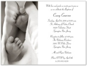 Baby Toes Baptism Christening Invitations - Set of 20