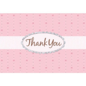 Pink Passion Glitter Thank You Cards