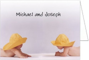 Rainhat Babies Twins Baby Thank You Cards - Set of 20