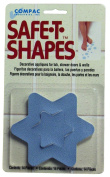 Compac Industries Safe-T-Shaped Bath-Tub Mat, Blue Star, Large