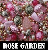 Approx 275 x Rose Garden Pink Jewellery Making Starter Beads Mix Set