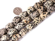 "Sweet & Happy Girl'S Store 12X18mm Faceted Gemstone Dalmatian Jasper Beads Strand 15"" Jewellery Making Beads"