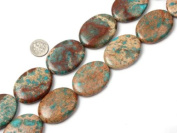 "Sweet & Happy Girl'S Store 30X40mm Oval Gemstone Crazy Lace Agate Beads Strand 15"" Jewellery Making Beads"