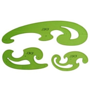 Draughtsman French Curves Set (3) - Jakar