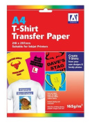 A4 Create Your Own Iron On T-Shirt Transfer Inkjet Paper 165gsm 210 x 297mm