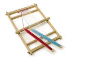 Large Traditional Wooden Deluxe Weaving Loom With Accessories Childrens Craft Toy