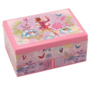 Musical Fairy Girl Jewellery Box Rectangular with Double Draw