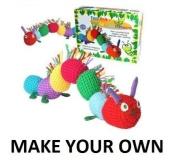 Craft Cupboard Make Your Own Knitted Crochet Woollen Caterpillar Childrens Craft Kit