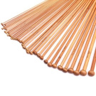 18 Sizes Carbonised Bamboo Single Pointed Needles Knitting Needles