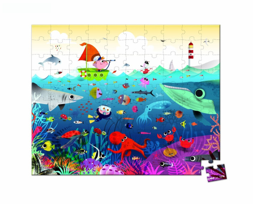 Janod underwater floor puzzle 100 pieces shipping is free for 100 piece floor puzzles
