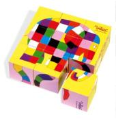 Vilac Wooden Elmer Blocks Jigsaw Puzzle