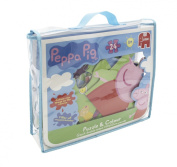 Peppa Pig Giant 24 Piece Jigsaw Puzzle & Colour